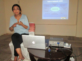 Mrs Artika Datta explaining her presentation